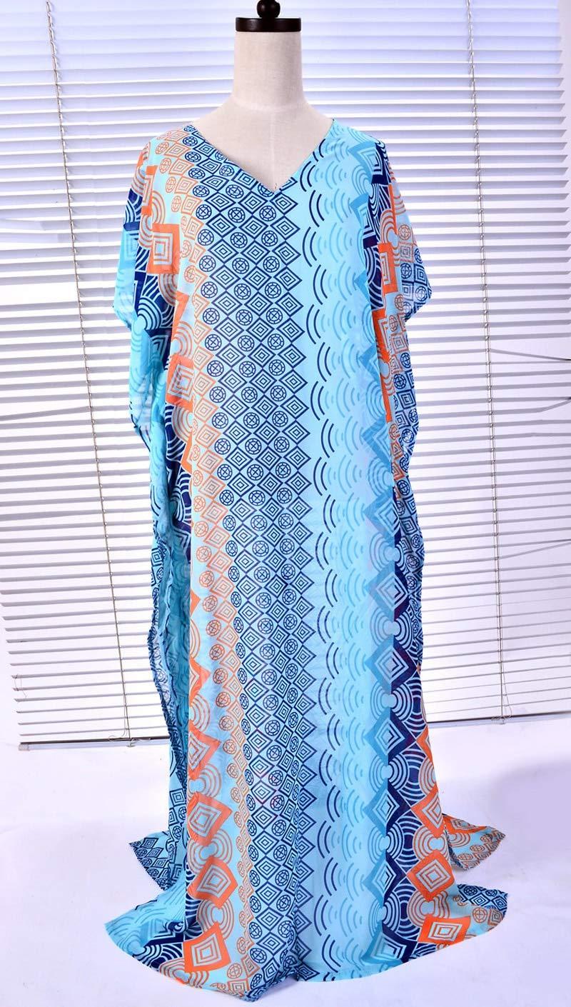 XIAOPANGHIA Oversize Vintage Robe Beach Long Dress Straight Geometric Split Output Swimwear Batwing Sleeve Maxi Dresses Women Pareos