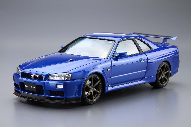 The model car Nissan BNR3.4 Skyline GT-R V-specII 02 Aoshima Bunka Kyozai 1.//2.4 Plastic