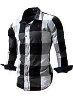 Neleus Men's Long Sleeve Button Down Shirts