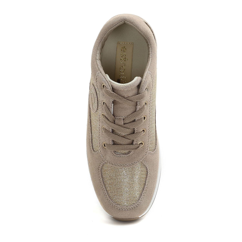 Estrada'sport by Scarpe&Scarpe Sneakers con Tessuto luccicante e Zeppa Interna