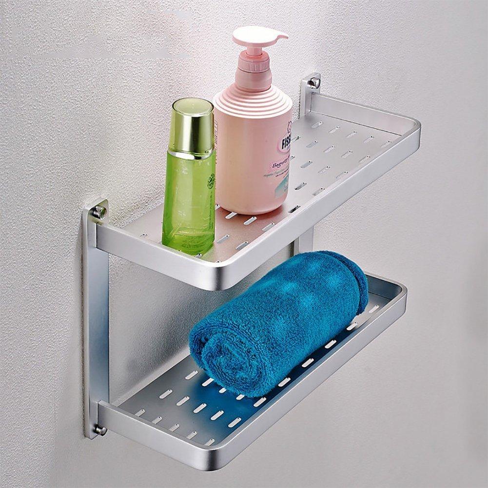 YAOHAOHAO Linear towel of aluminum towel rails bath towel bath rooms rooms shelving wall of cosmetics - A