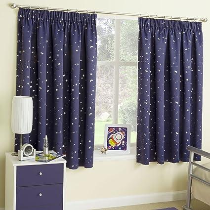 MOONLIGHT - MOON & STARS - PINK & BLUE - PRINTED BEDROOM ...