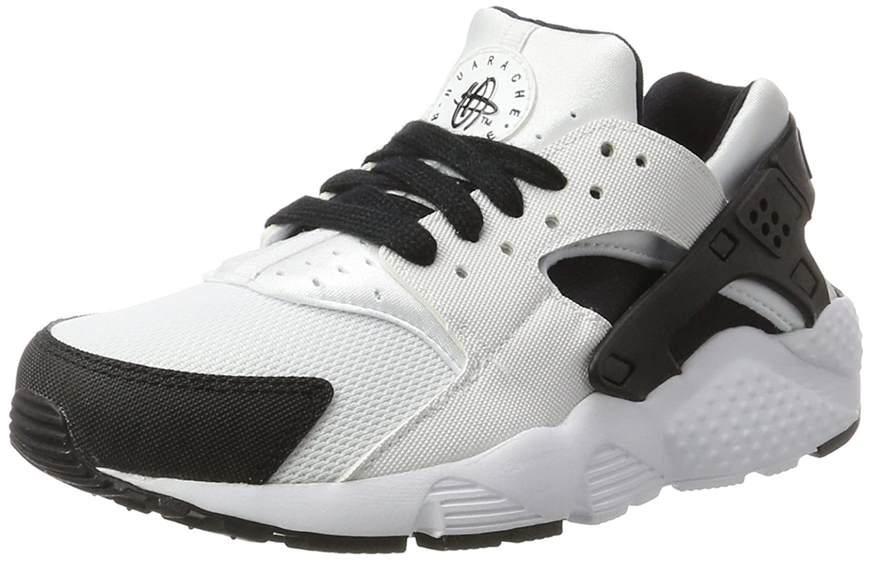 Nike Huarache Run (GS), Zapatillas de Running para Niños 36 EU|Blanco / Negro / Blanco (White / Black-white)