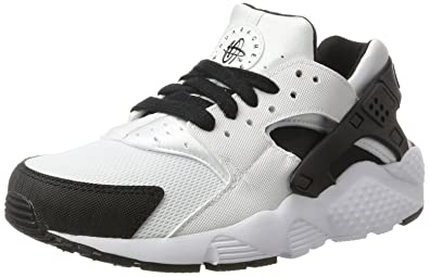 Nike Kids Huarache Run GS, WHITE/BLACK,WHITE, Youth Size 4