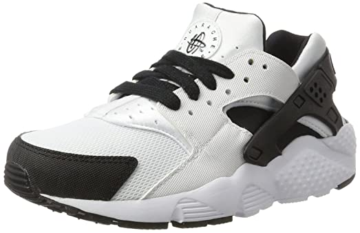 Nike Kids Huarache Run GS, WHITE/BLACK-WHITE, Youth Size 4