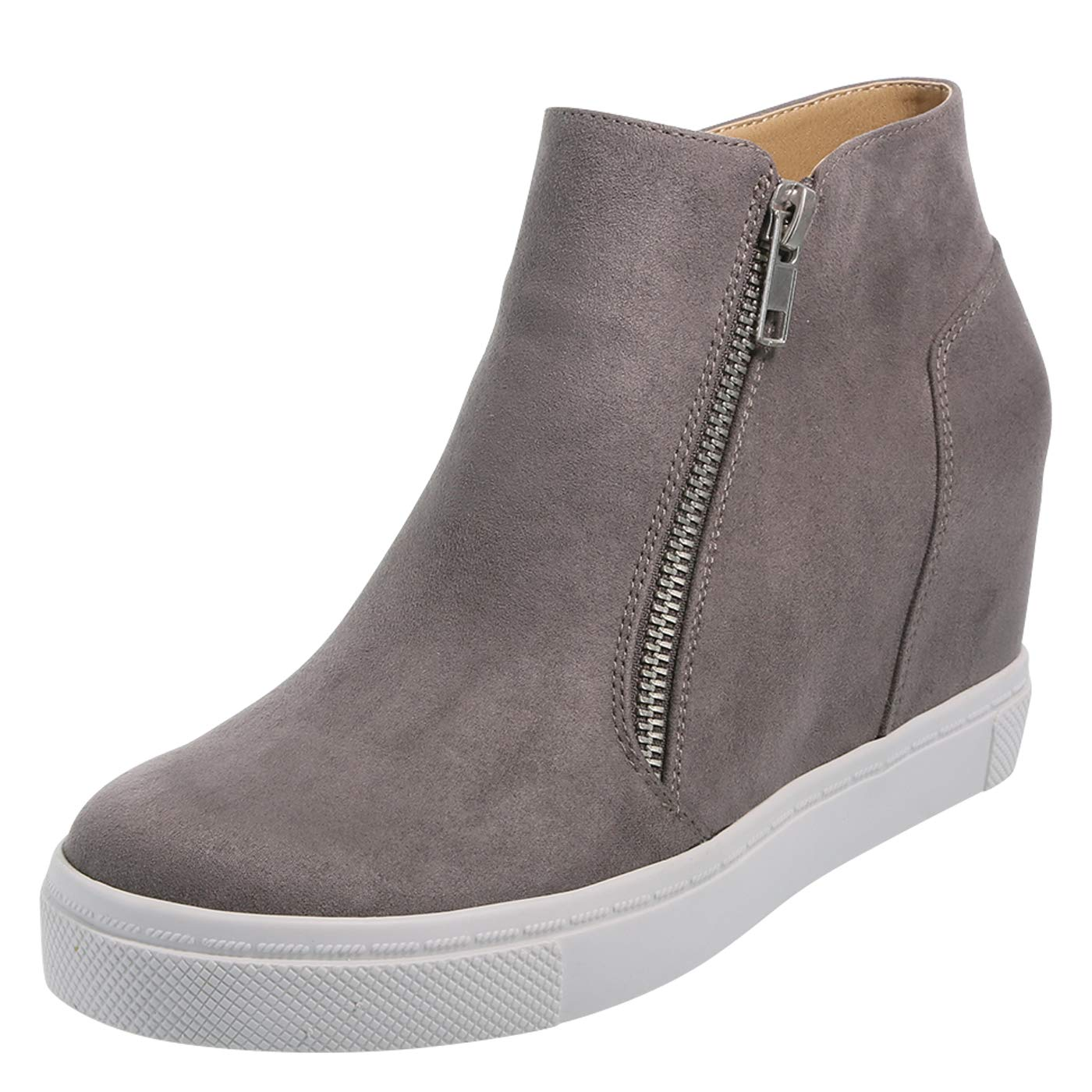9df4843e23e Brash Grey Suede Women's Cece Hidden Wedge Casual 13 Regular ...