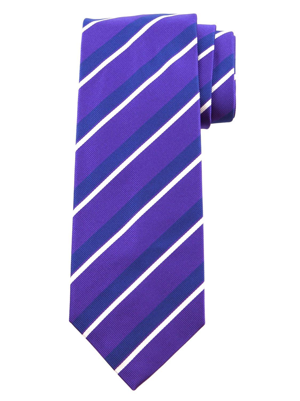 Robert Jensen Finest Silk Handmade Men's Neck Tie - Woven - (Purple with Navy Blue)