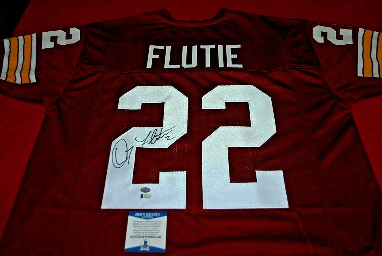finest selection f70d4 89c13 Doug Flutie Autographed Jersey - custom beckett GTSM holo ...