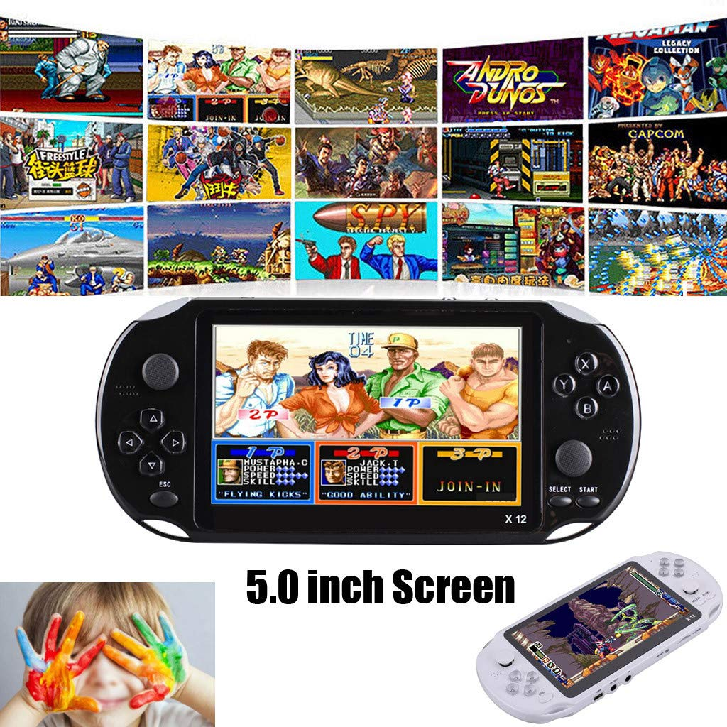 Basde Handheld Game Console Kids Adults, Mini Arcade Game Retro Machines for Kids with 3000 Classic Video Games Home Travel Portable Gaming System Childrens Tiny Toys Digital (Black) by Basde (Image #6)