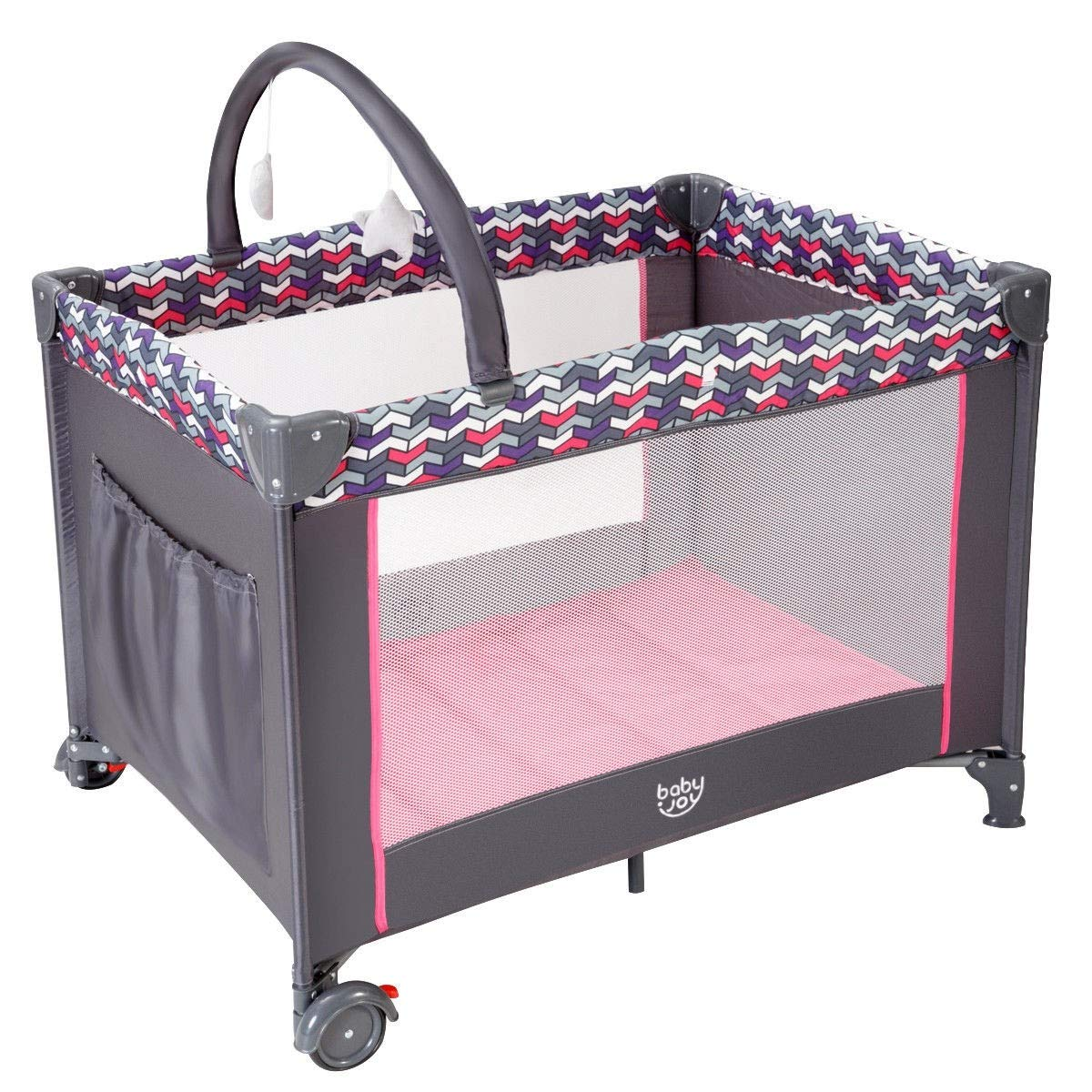 Folding Travel Baby Crib Playpen with Baby Toys Changing Table Infant Bassinet Bed by USA_BEST_SELLER