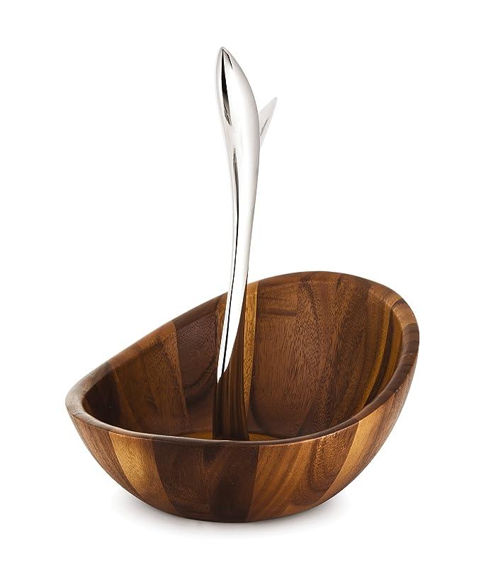 Amazon.com: Savora Vine Frutero de madera de acacia y acero ...