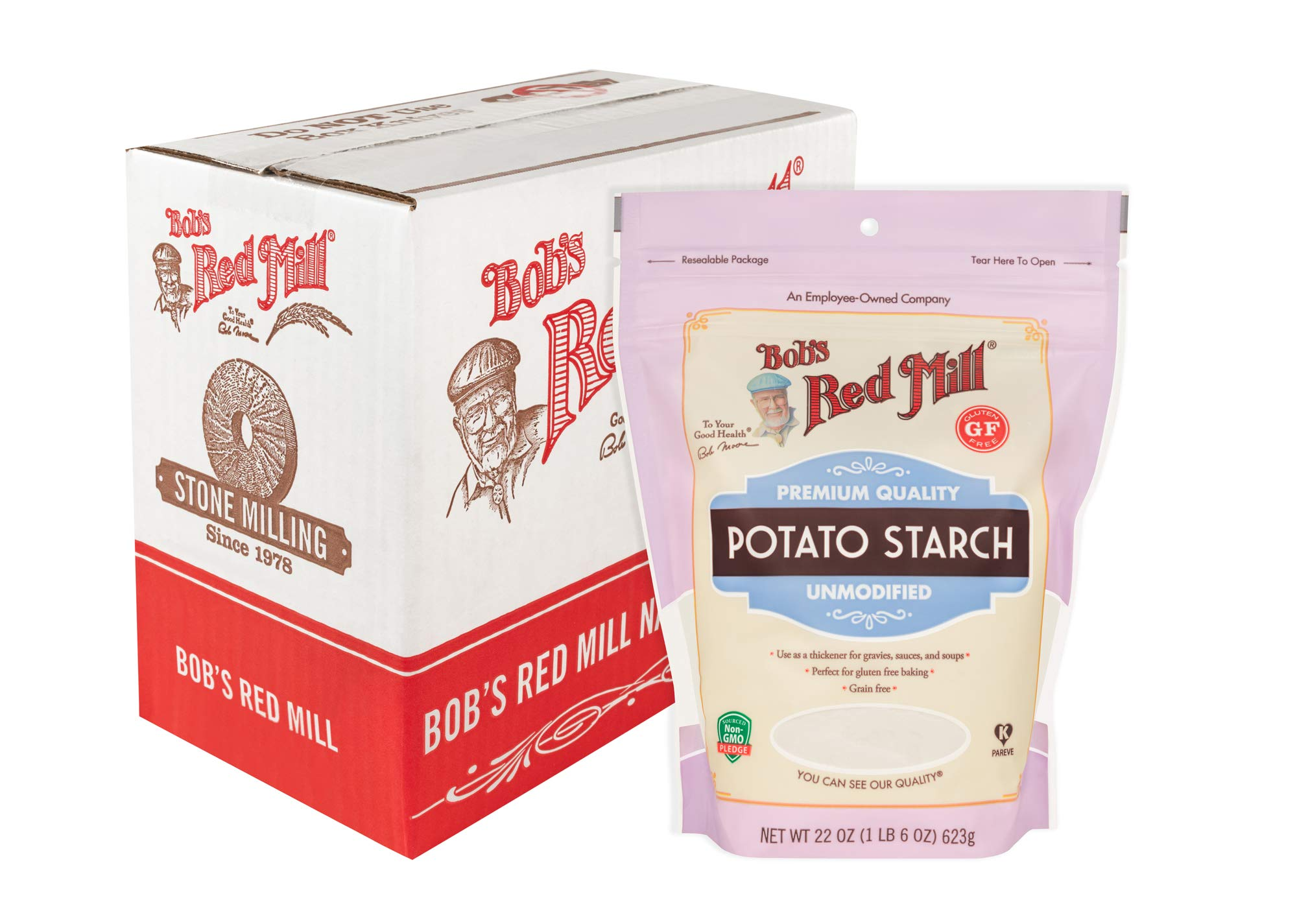 Bob's Red Mill - Resealable Potato Starch, 22 Oz (4 Pack)