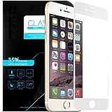 iPhone 6/6s Protection plein écran en Verre Trempé , EnGive Film de Protection d'écran en Verre Trempé Pour Apple iPhone 6/6s (Blanc)