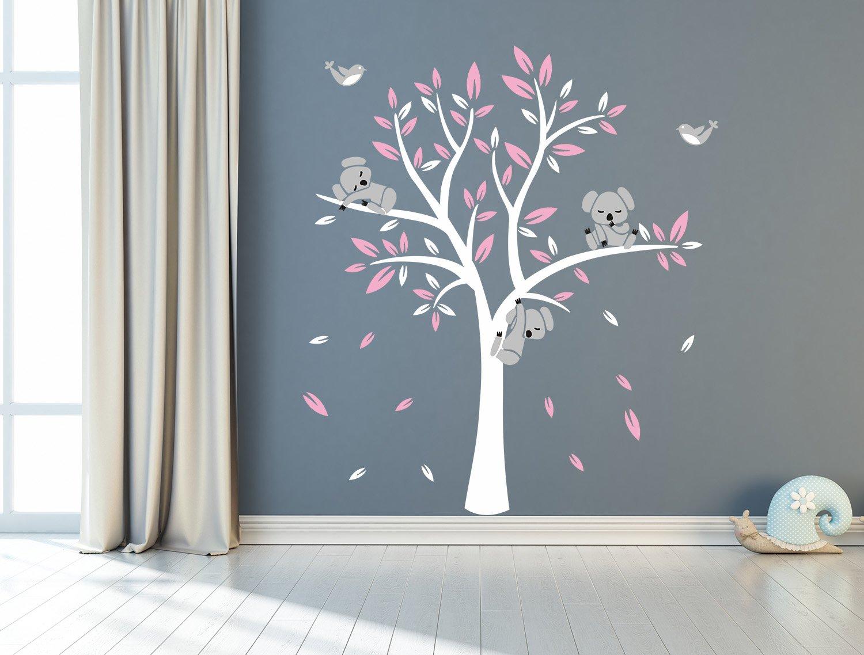 Decorazione Pareti Per Bambini : Sayala 3 koala arbero stickers adesivi decorativi da parete per
