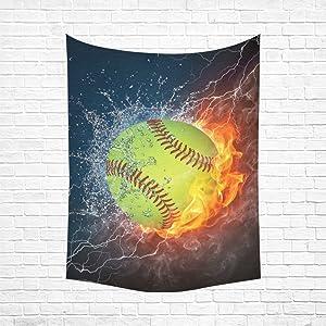 Unique Debora Custom Wall Tapestry Wall Art Hanging 60x80 Inch Baseball