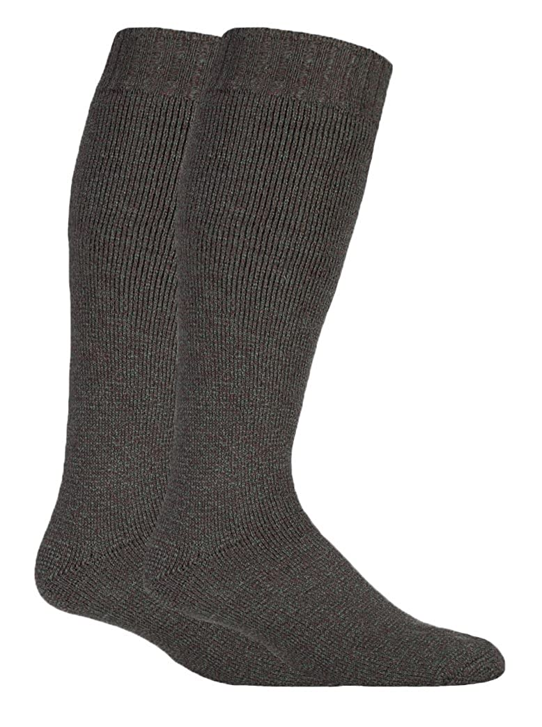 David James - Mens 1 or 2 Pack extra long knee high wool knitted knit loose top cushioned boot socks for wellies 6-11 UK DJWELLIE_9833
