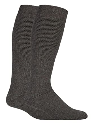 7e5fb2972 David James - Mens 1 or 2 Pack extra long knee high wool knitted knit loose  top cushioned boot socks for wellies 6-11 UK  Amazon.co.uk  Clothing
