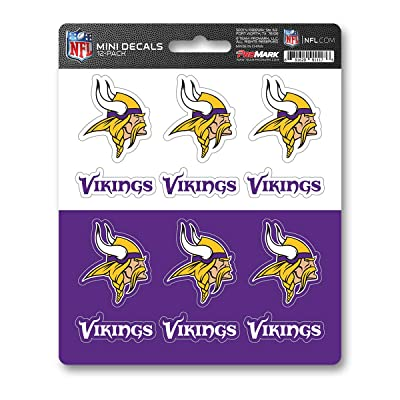 FANMATS NFL Minnesota Vikings DecalDecal Set Mini 12 Pack, Team Colors, One Size : Sports & Outdoors