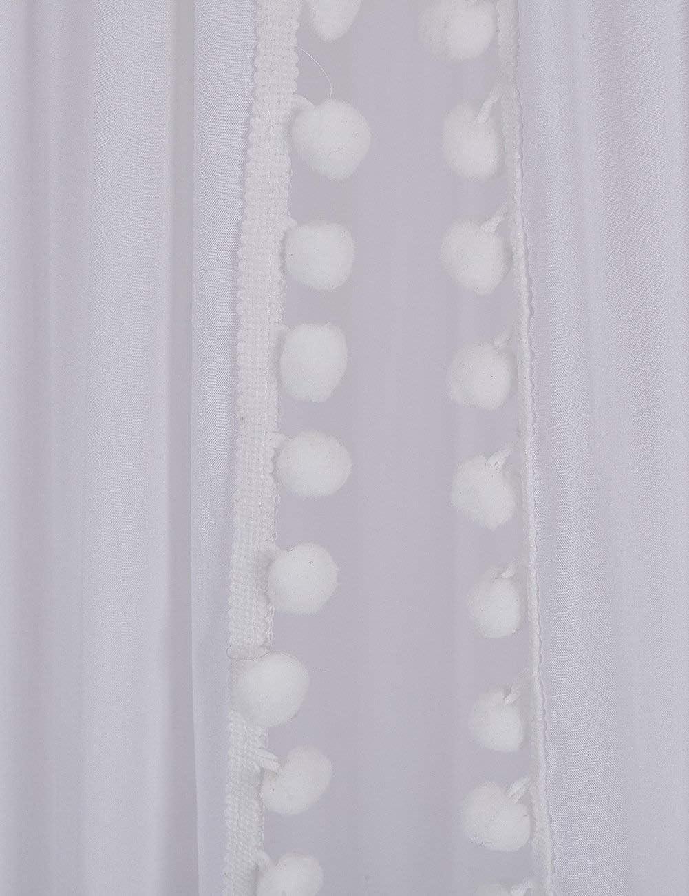 dosel para la sala de lectura de los ni/ños mosquitera Dosel de cama redondo con pomp/ón decoraci/ón de guarder/ía decoraci/ón de dormitorio