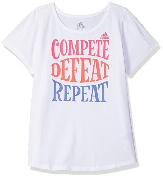 Adidas Girls  Big Short Sleeve Graphic Tee Shirts  Amazon.in ... 1b42c3895
