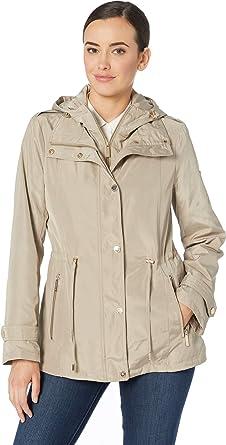 Michael Michael Kors Snap Front Rain Jacket M324064M Taupe XS