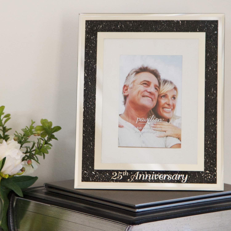 Treasured Memories Photo Frame 25th Anniversary 4x6