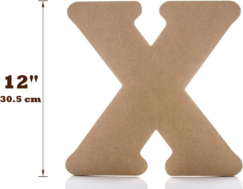 N Gro/ße Holzbuchstaben 30.1cm JoePauls Crafts