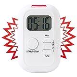 infactory Küchentimer: Elektronischer Timer mit Ton-, Licht- und Vibrationsalarm (Kurzzeitmesser)