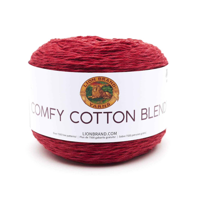 Lion Brand Yarn 756-721 Comfy Cotton Blend Yarn Cool Night 1 skein//ball