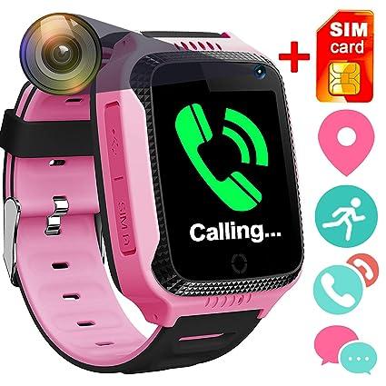 GreaSmart - Reloj inteligente para niños con función de localizador GPS, podómetro, rastreador de actividad física, ...