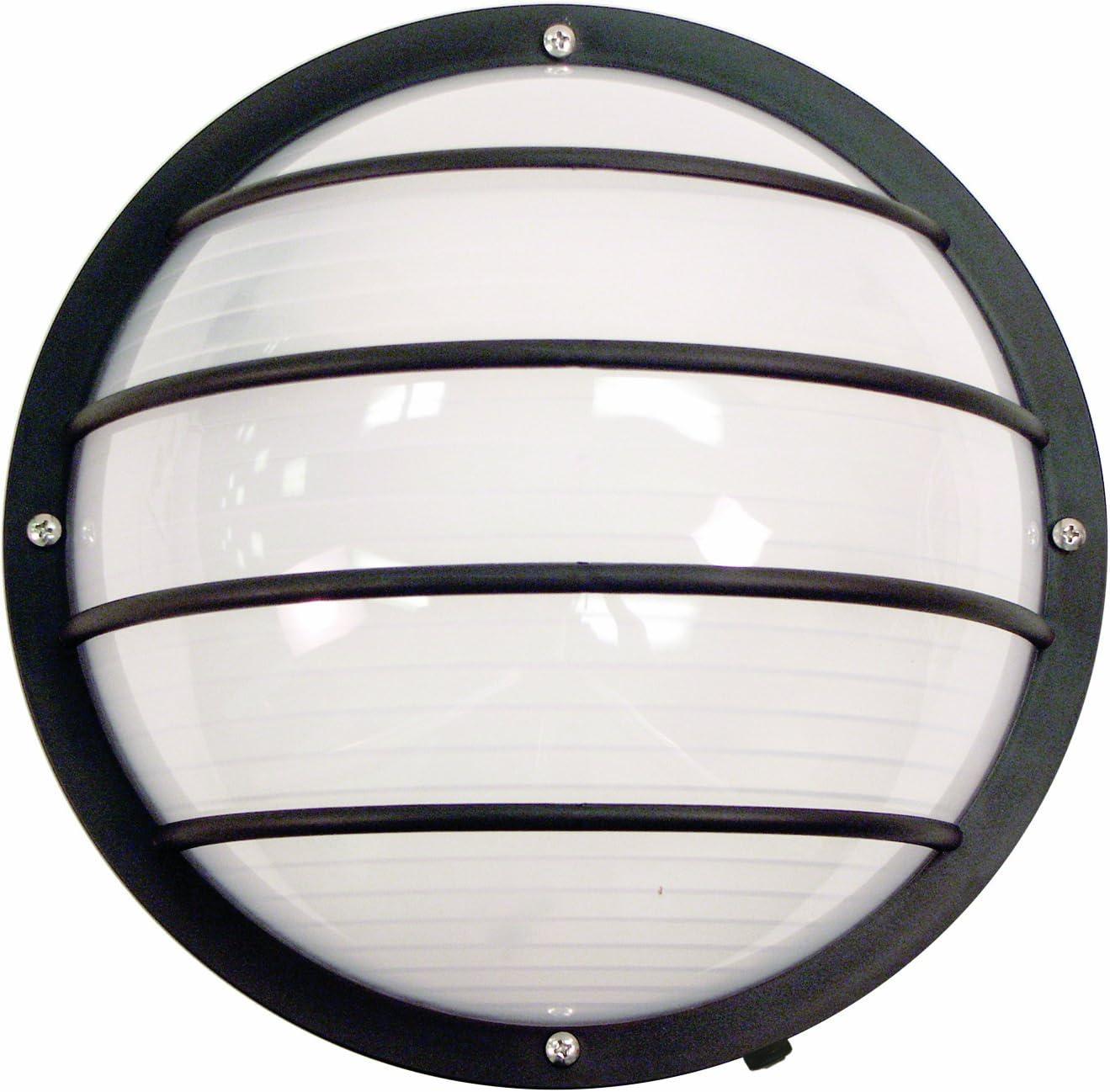 Sunlite 49004-SU LFX/DOD/EL/BK/FR/40K Decorative Outdoor LED Eurostyle Linear Polycarbonate Fixture, Black Finish, Frosted Lens