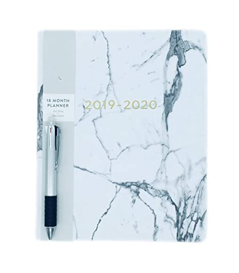 Amazon.com : 2019-2020 Marble Eccolo Large Flexible Agenda ...