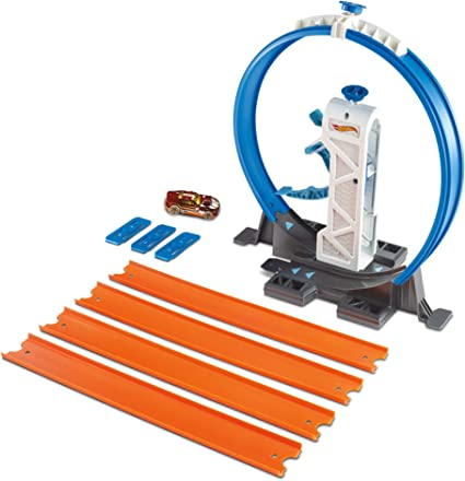 Hot Wheels Loop Builder Track Lot of 5 New 2 Track packs 1 Loop And 1 Launcher