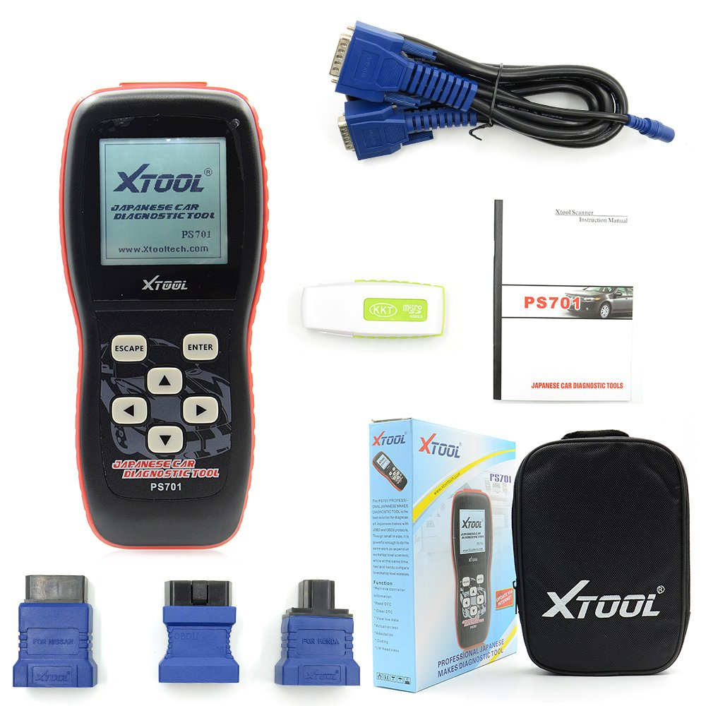 Xtool PS701 OBD2 Car Scanner Professional Diagnostic Tool For Toyota/ Honda/ Mitsubishi/ Subaru/ Isuzu/ Suzuki/ Mazda/ Nissan Automotive Code Reader Updated online