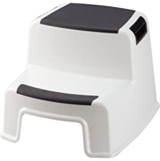 Amazon.com: Home Basics 2 Tier Step Stool with Rubber Top ...