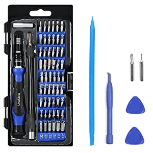 Precision Screwdriver Set with 56 Magnetic Driver Kits,64 in 1 Screwdriver Tool Set with Flexible Shaft,Openers, for Professional Fixing PS4/Computer/Smartphone/Laptops/Xbox/Tablets/Camera/Toy