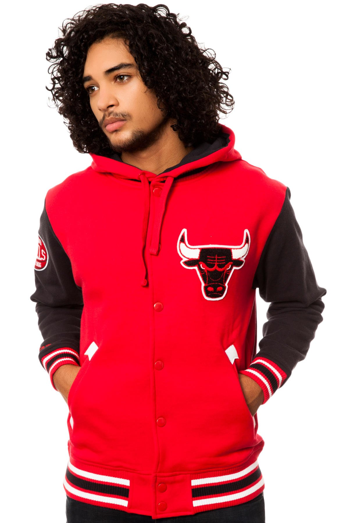 Mitchell & Ness Men's Chicago Bulls 2Nd Quarter Fleece Jacket Extra Extra Large Red by Mitchell & Ness