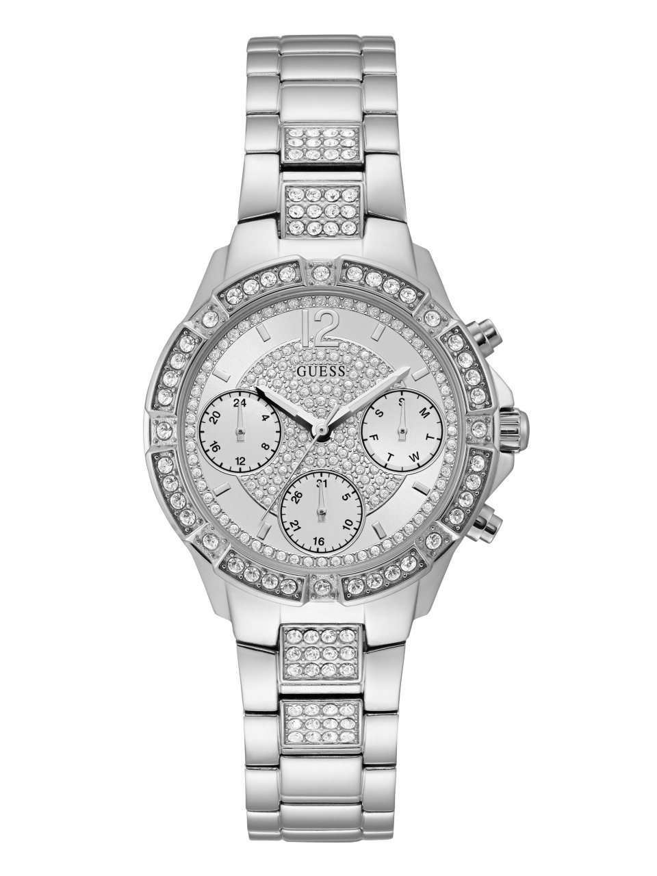 GUESS Women's Quartz Stainless Steel Casual Watch, Color:Silver-Toned (Model: U1071L1)