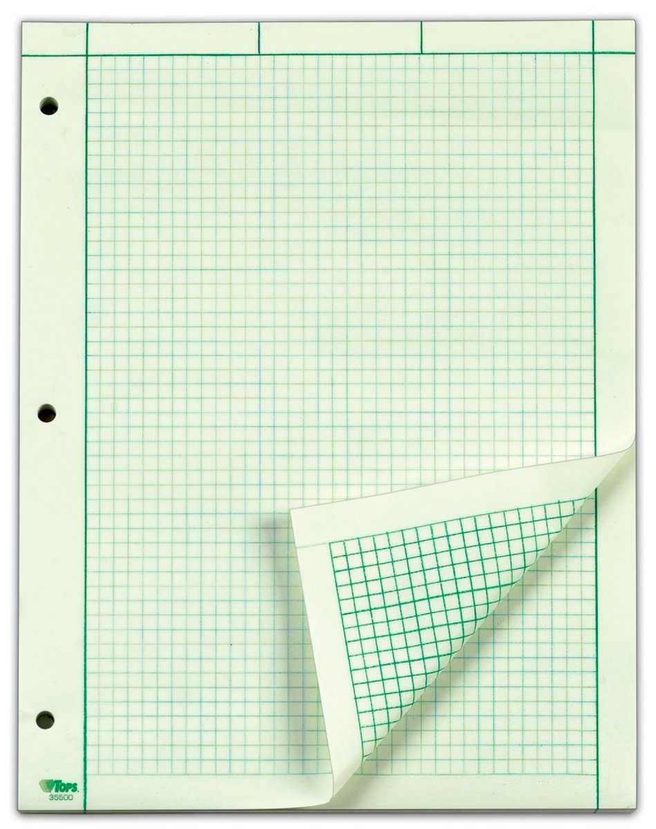 Amazon TOPS Engineering Computation Pad 200 Sheets 35502 – Engineering Graph Paper Template