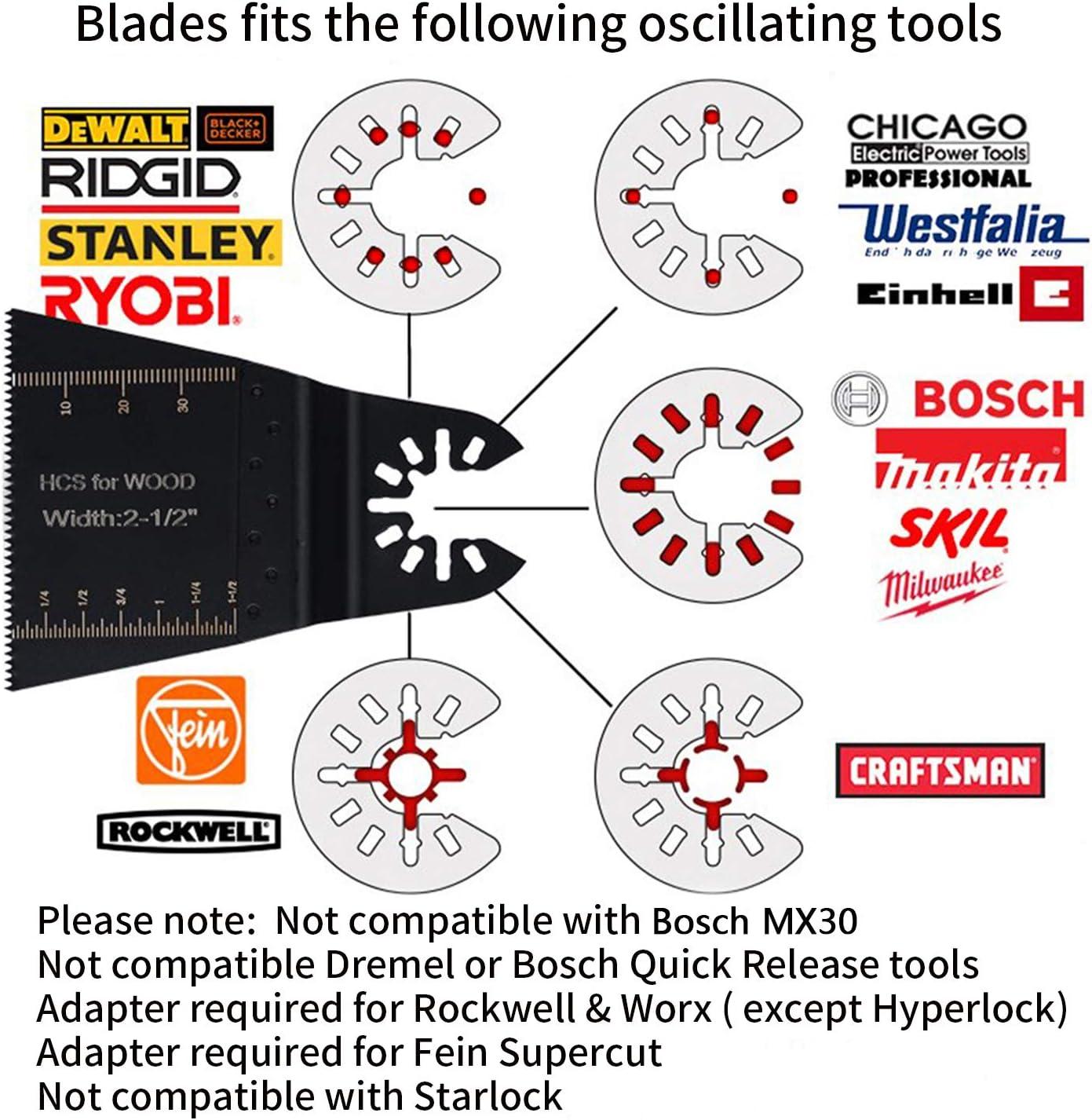 Universals/ägeblatt f/ür Bosch Makita zum Schneiden von Holz//Fliesen//Nagel Chistar 28-teiliges Zubeh/ör f/ür Oszillierende Multifunktionswerkzeuge Dewalt
