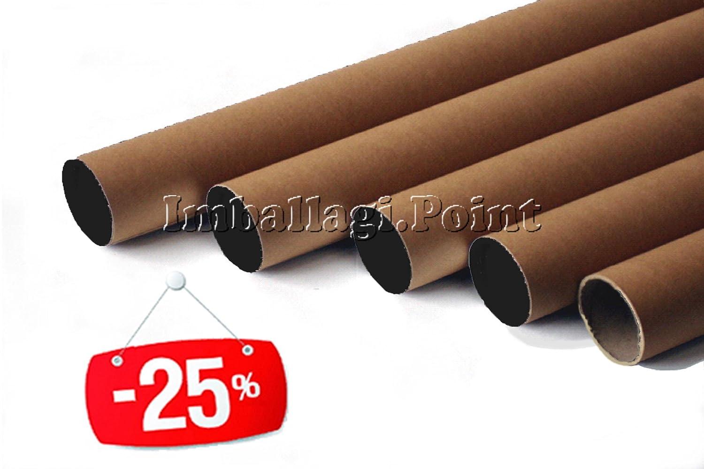 10 tubi CARTONE CON TAPPO PLASTICA SPEDIZIONI POSTALI ALT64x5cm DIAMETRO AVANA Imballaggi.Point