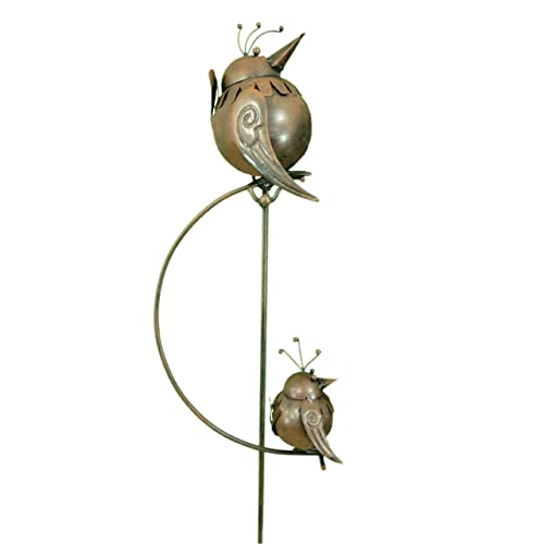 East2eden Rocking Balancing Big U0026 Small Birds Metal Garden Wind Spinner  Ornament