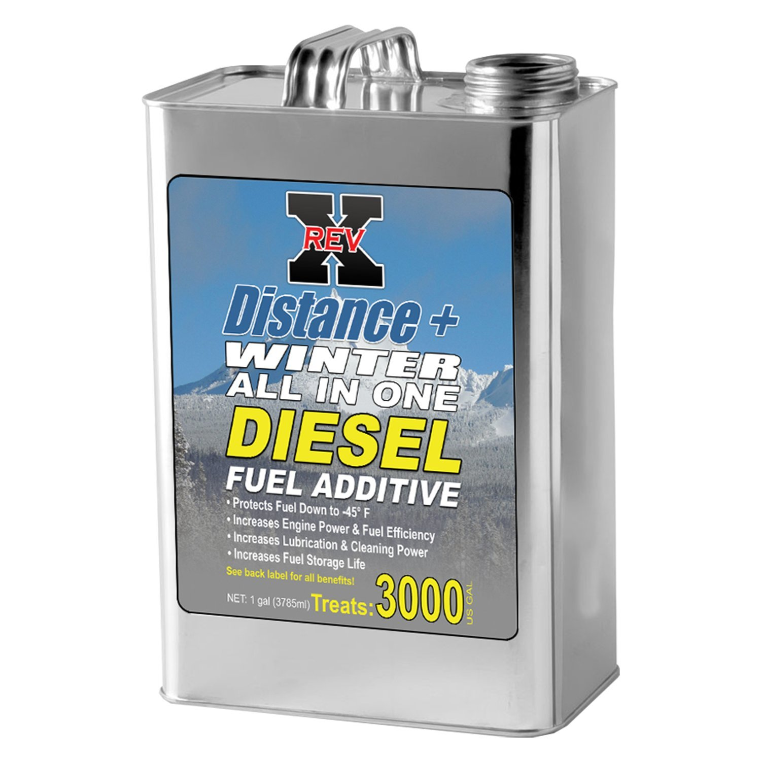 REV X Distance+ Winter Diesel Fuel Additive (-45°) - 1 Gallon Treats 3000 Gallons by REV-X