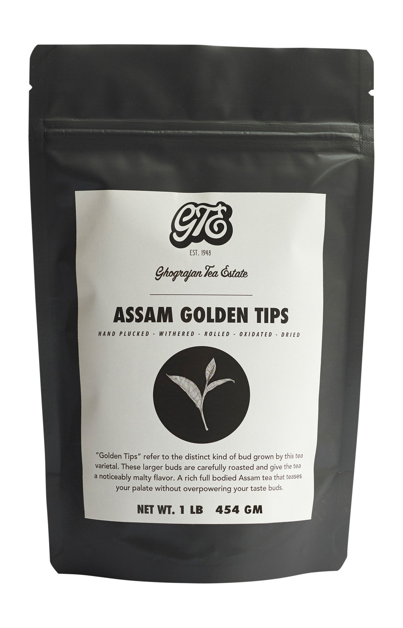 Assam Loose Leaf Black Tea with Golden Tips (200+ Cups) - Premium Second Flush Harvest - Malty, Full Bodied Breakfast Tea - Directly Shipped from our Family-Owned Estate in Assam, India - Bulk Pouch