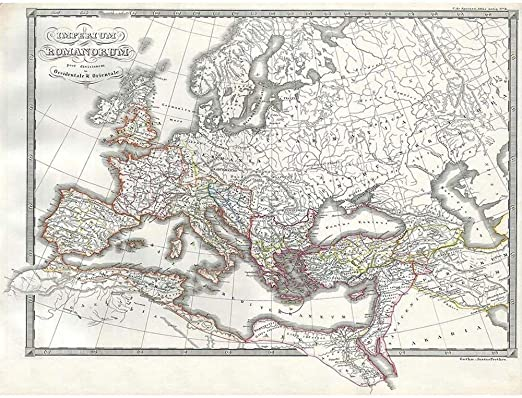1865 SPRUNER MAP THE ROMAN EMPIRE UNDER CONSTANTINE VINTAGE POSTER PRINT 12x16 inch 30x40cm 2953PY