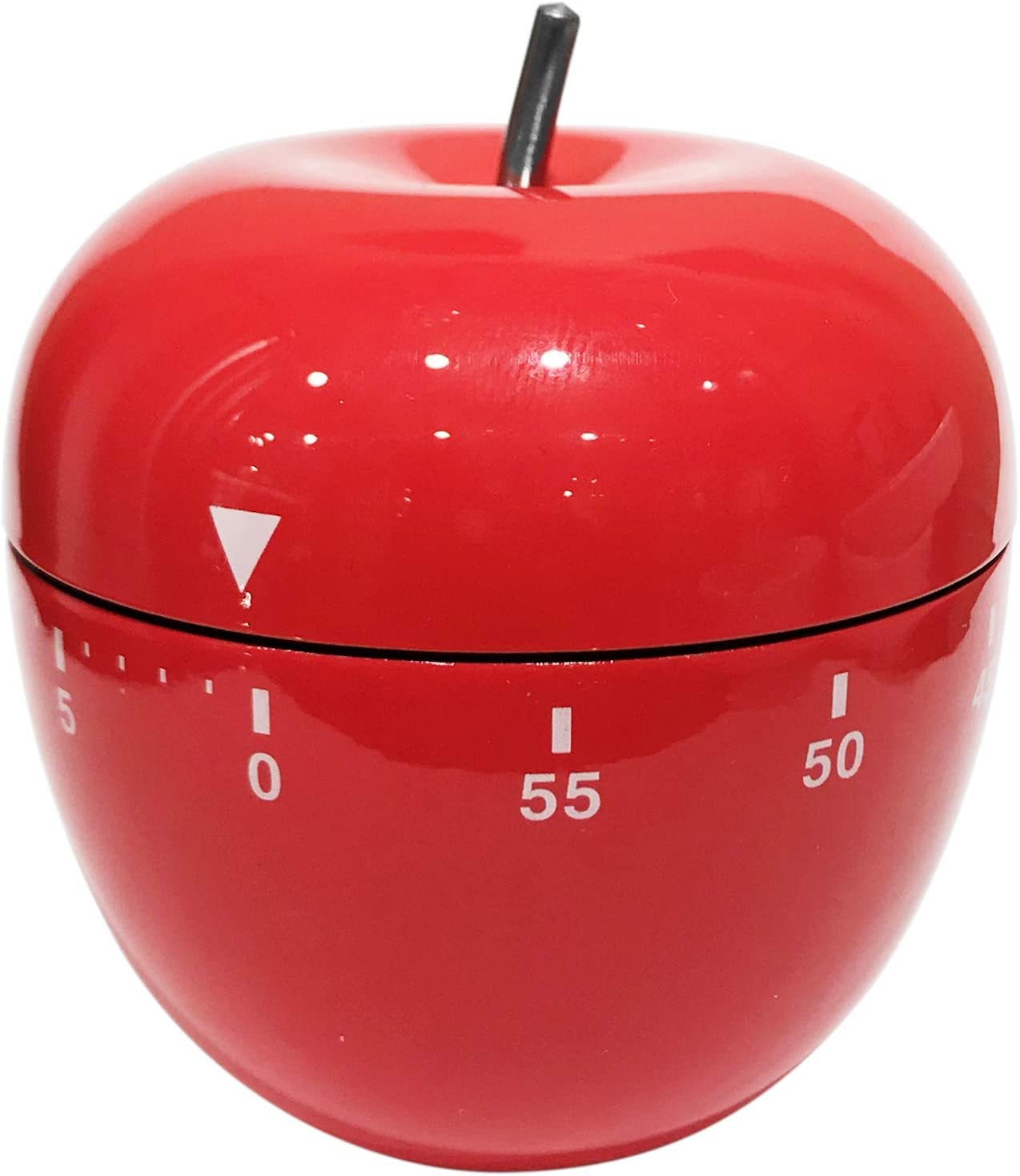 Oggi 7258.2 Red Stainless Steel Apple 60 Minute Kitchen Timer