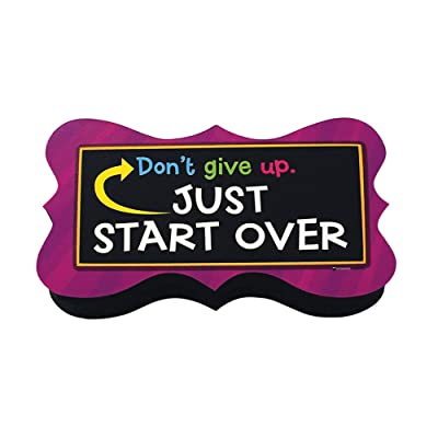 Dowling Magnets Magnetic Whiteboard Eraser with Start Over Quote: Toys & Games