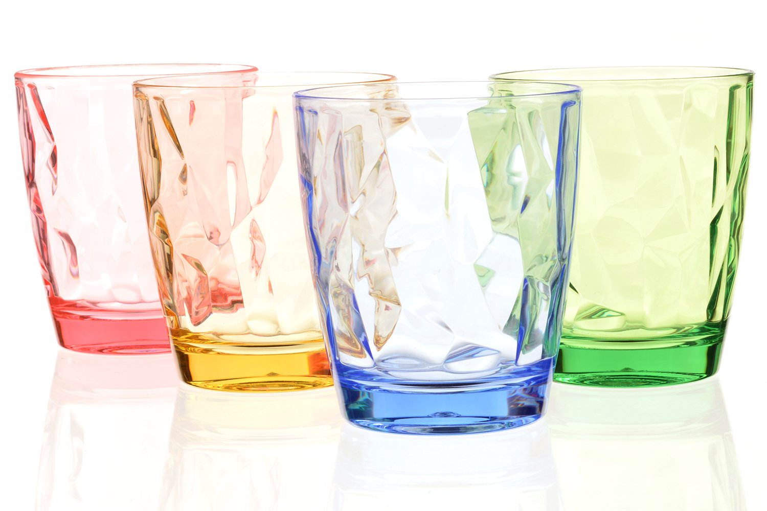 6ce0fc5d3fb Drinking Glasses Set Acrylic Glassware for Kids 11oz Colored Plastic  Tumblers Cups Picnic Water Glasses Unbreakable