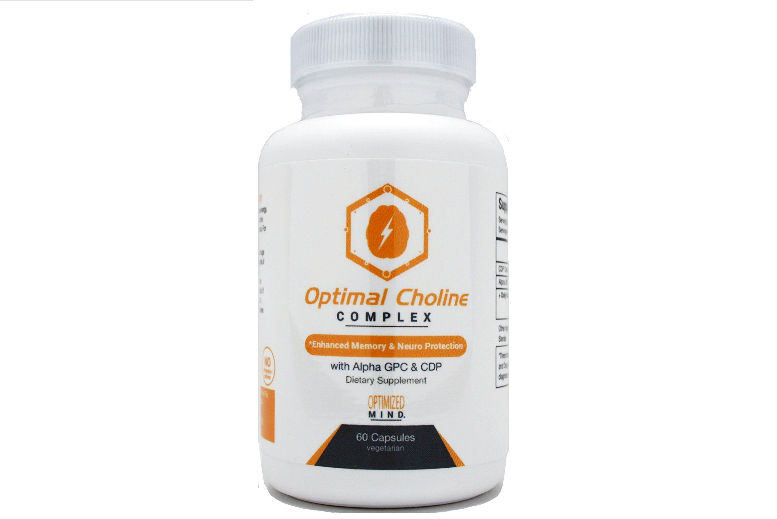Optimal Choline Complex - Alpha GPC / Citicholine Blend - 300 mg Choline Supplement by Optimized Mind