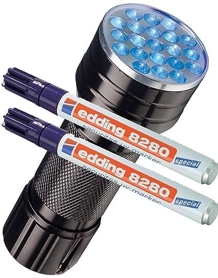 Edding 8280 - Rotulador especial Securitas UV de luz ultravioleta, 1,5 - 3